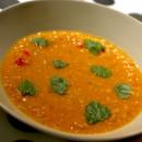 Soupe indienne aux lentilles de corail