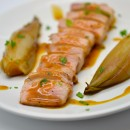 Lomo (filet de porc ibérique), jus de veau à la moutarde