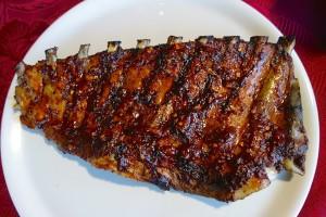 travers de porc ribs sauce barbecue recette au four la cuisine de nelly. Black Bedroom Furniture Sets. Home Design Ideas